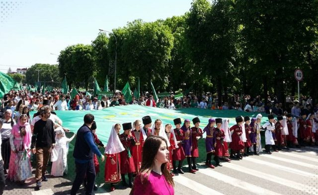 May 21 memorial ceremony, Nalchik, Kabardino-Balkaria (Source: circassianworld.com)