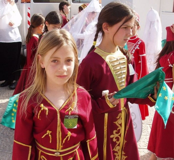 Circassian girls in the Northern Caucasus (Source: Pinterest).