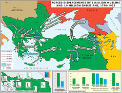 Forced Displacements of 5 Million Muslim and 1.9 Million Christians, 1770-1923