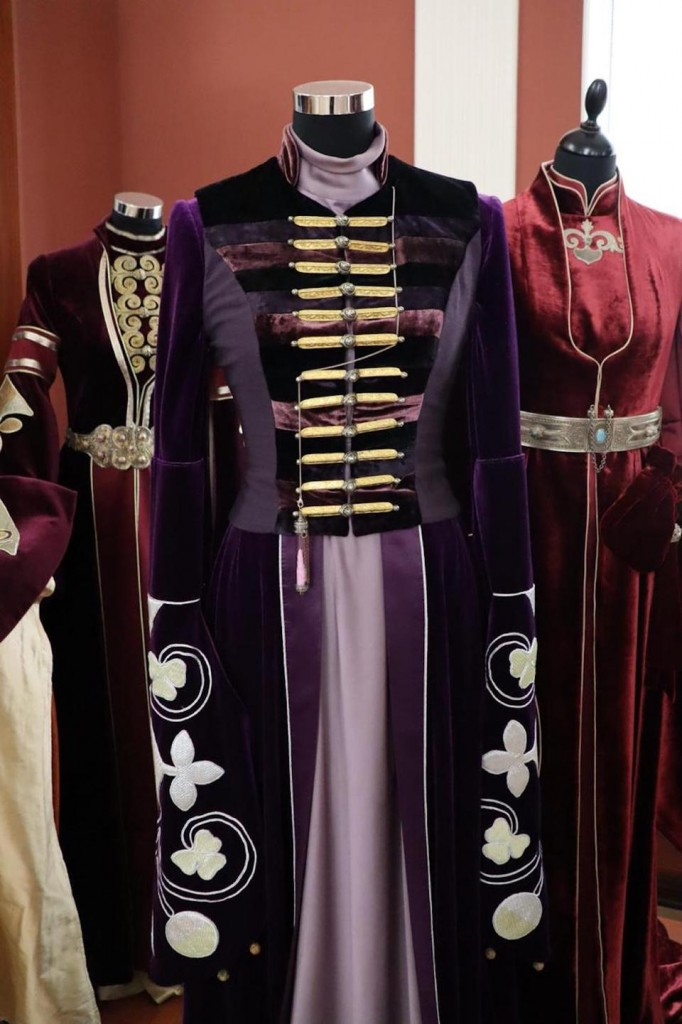Traditional elaborately embroidered 'adiga fasha' Circassian women's wedding dress. The cheapest dresses start from about $1550. (Courtesy of: Aslan Mazukabov)