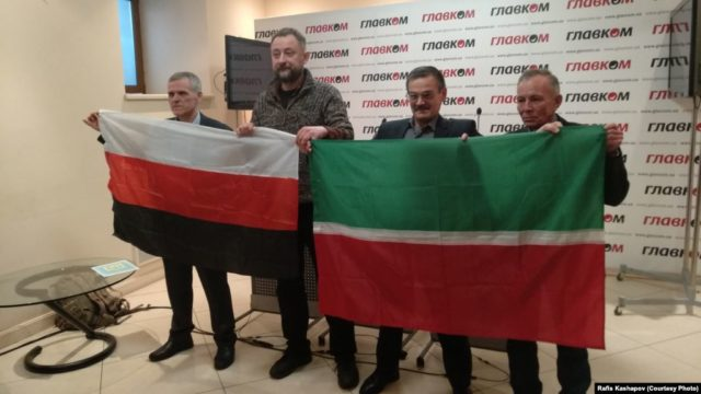 Free Idel-Ural co-founders' press conference, Kyiv, March 2018