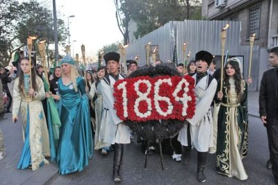 Circassian protest against the Sochi Olympics (Source: Time.com)